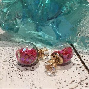 Jewelry - Red Star Double Stud Earrings